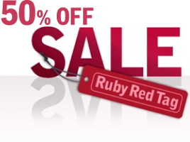 Ruby Red Tag Sale