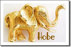 Hobe Goldtone Elephant Brooch