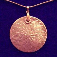 Copper  Rosette  Pendant