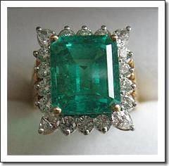 Important 7 29 Carat Columbian Emerald   Diamond Ring, Platinum   18K - Estate