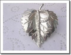 Sterling Silver Artisan Positivity Equals Prosperity Heart Shaped Leaf Inspirational Pendant Brooch