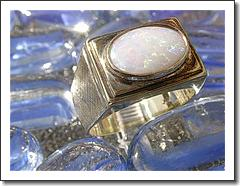 14kt Gentlemen's Vintage Opal Ring