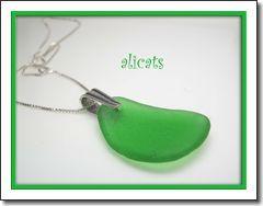 Emerald City ~ Vibrant Emerald Green Sea Glass Necklace