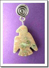 Man's Thunderbird Earring (One): Noonurite Jasper   Sterling Silver, 1-1 4 Inches: Auraeana Originals