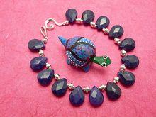 Blue Sapphire Bracelet, 8-1 4 Inches: Auraeana Originals