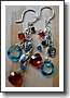 Earrings ~ RAIN CHAINS: AUTUMN DANCERS ~ Artisan Lampwork, Swarovski Crystals, Bali Sterling Silver