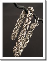 Chain maille Bracelet - Byzantine Weave - Antiqued Sterling Silver