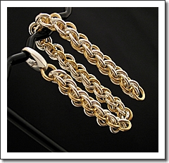 Chainmaille Bracelet ~ 14k Goldfill   Sterling ~ Jens Pind Weave