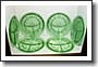 Doric Green Grill Plates (6)