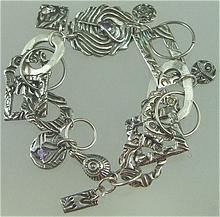 Texture Fantasy  Pure ( 999) Silver PMC Bracelet