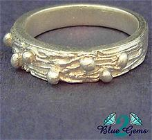 Rocky Road  - Pure ( 999) Silver Ring