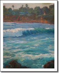 Laguna Beach Seascape by Impressionist Artist Rachel Uchizono