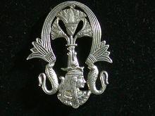 Egyptian  800 Silver Pin W Alexandria Hallmark, Egyptian Motif
