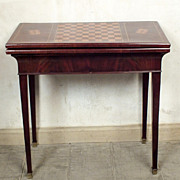 1900-1910's French Antique Louis XVI Game Table
