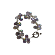 SOLD Pink Amethyst and Silver Bracelet