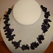 SALE Amethyst and Silver Necklace