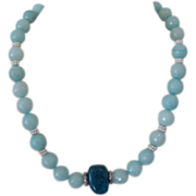 Amazonite and Blue Candy Jade Necklace