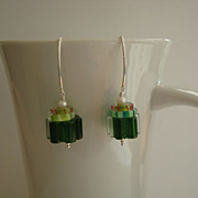 Cane Glass Earrings (Large)