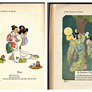 Vintage Japanese Children's Book, Lavish Color Illustrations, First Edition 1925
