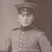 Vintage Military Photo, Young German Soldier in Uniform
