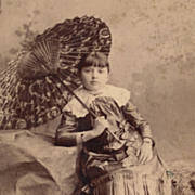 SALE Antique Victorian Photograph, Pretty Girl with Parasol, San Francisco