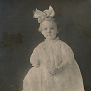 Pretty Little Girl Perched on a Stool, Vintage Photograph, Cabinet Card