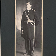 Antique Victorian Photo, Handsome Man in Uniform, Oddfellow, Fraternal Masonic