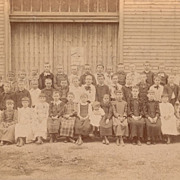 Children from One-Room School House, Victorian Antique Photo