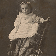 Pretty Girl in Lacy Dress, Antique Victorian Photograph, Cabinet Card
