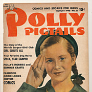 Vintage Polly Pigtails Magazine, 1948 Girl Scouts Issue, Pretty Little Girl Ephemera