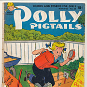 Vintage Polly Pigtails Magazine, 1948 May Issue, Pretty Little Girl Ephemera
