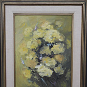 Original, Signed, Vintage Painting by Mid-Century Woman Artist, FREE DOMESTIC US SHIPPING