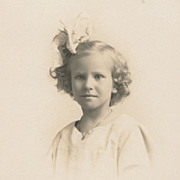Vintage 1920s Photo, Beautiful Little Girl, Blonde Hair, Pretty as can be...