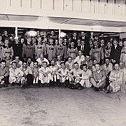 Shriner's Play, Owosso & Flint Michigan 1947, Clowns, Vintage Fraternal Photo ID