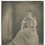 Antique Art Photo, Lovely Grecian Styled Lady, Tasteful Nude