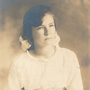 SOLD Vintage Photo, Dreamy Romantic Portrait of Pretty Young Lady, Sash at Waist