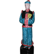 California art pottery figural of an elegant Asian man