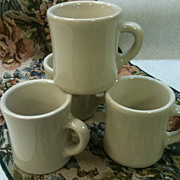 Vintage Victor Restaurant Ware Mugs-Set of 4
