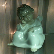 "Lladro Angel/Cherub Figurine ""Thinking"" Retired"