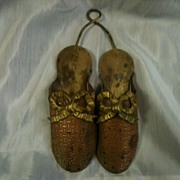 Vintage Brass & Copper Match Holder Slippers