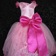 Vintage Barbie Pink Tulle Gown Tagged