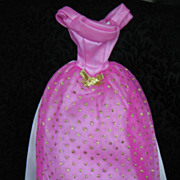 Vintage Barbie Pink Gown Dress Tagged  Mint Condition