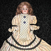 Antique Kammer & Reinhardt Bisque Shoulder Head Doll with Kid Leather Body