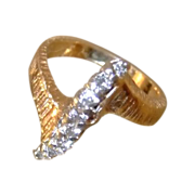 SALE 14kt Diamond Ring  Yellow Gold