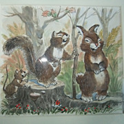 SOLD Maurice Day Original Watercolor The Most Famous Disney Illustrator