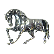 Dressage Horse Pin Sterling Silver Horse Pin