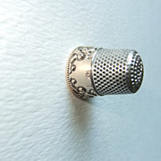 REDUCED Thimble 14kt Yellow Gold  & Sterling Silver Sz 7