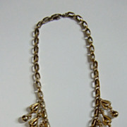 Vintage Napier Bib Necklace  Very Pretty Signed