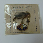Vintage God Bless America Lapel Pin