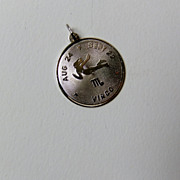 Virgo Zodiac Sterling Silver Charm or Pendant